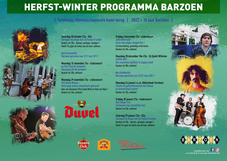 Najaarsprogramma Barzoen Turnhout